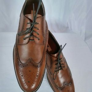 New Joseph Abboud Leather Shoes Brown 11.5 Wingtip